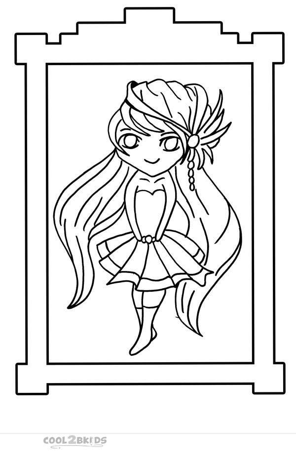 anime chibi boy coloring pages - photo#34