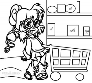 Chipettes Coloring Pages Kids Printable