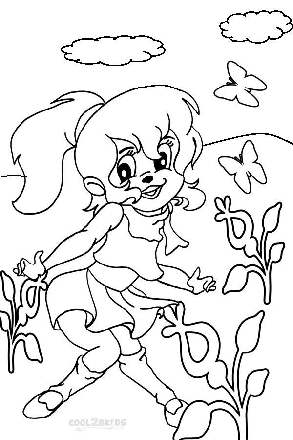 brittany the chipettes jump coloring page. chipettes coloring pages ...