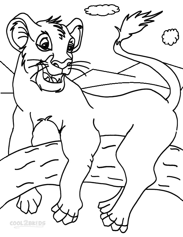 Coloring Pages of Simba
