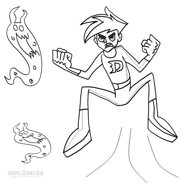 Printable Danny Phantom Coloring Pages For Kids | Cool2bKids