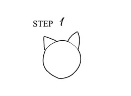 Draw Cat Step 1