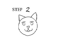 Draw Cat Step 2