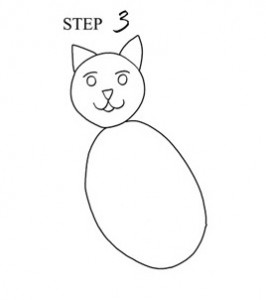 Draw Cat Step 3