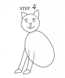 Draw Cat Step 4