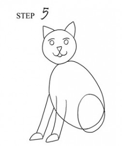 Draw Cat Step 5