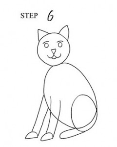 Draw Cat Step 6