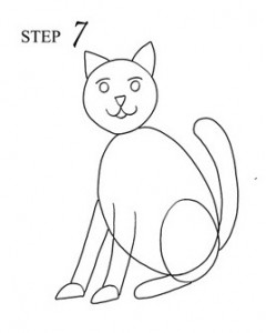 Draw Cat Step 7