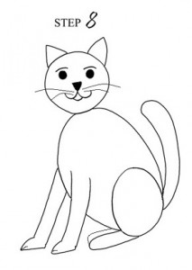 Draw Cat Step 8