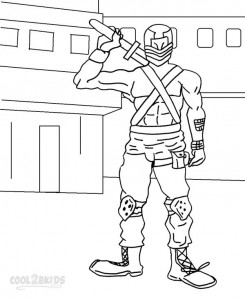 GI Joe Coloring Pages Snake Eyes