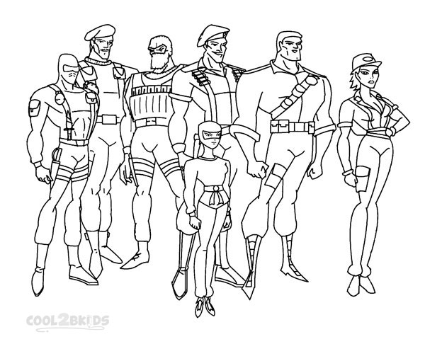 GI Joe Coloring Pages To Print