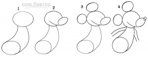 How To Draw Mickey Mouse Step 1
