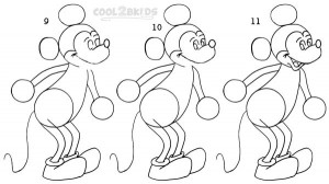How To Draw Mickey Mouse Step 3