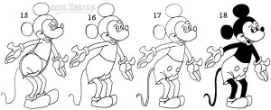 How To Draw Mickey Mouse Step 5
