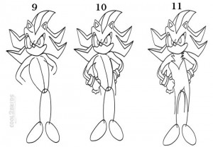 How To Draw Sonic The Hedgehog Step 3