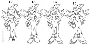How To Draw Sonic The Hedgehog Step 4