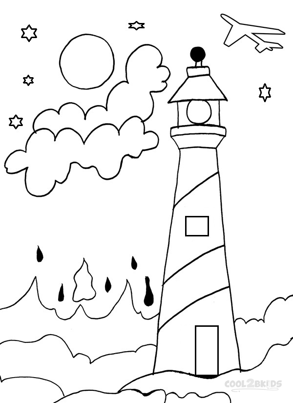 coloring pages lighthouse - photo#34