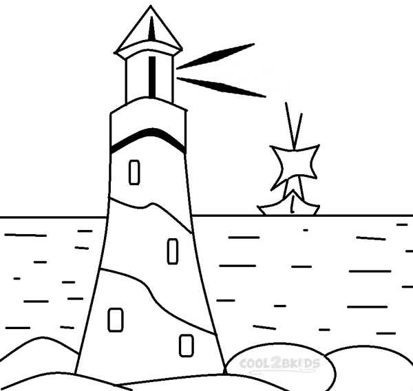 kids free coloring pages lighthouses - photo#8