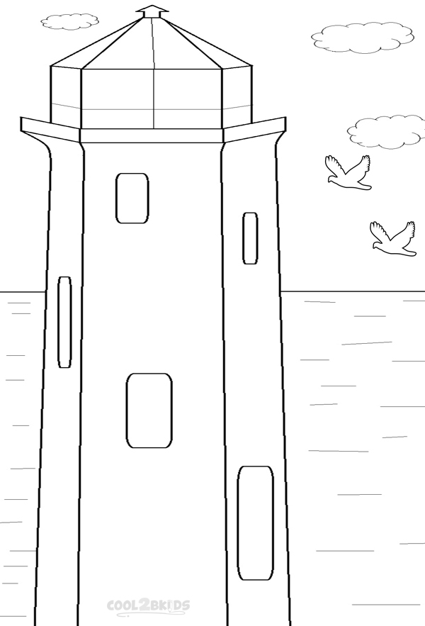 Printable Lighthouse Coloring Pages For Kids Cool2bkids