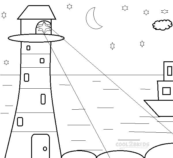 lighthouse coloring pages print