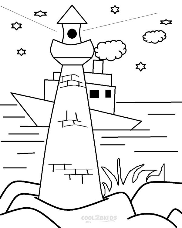 Free Coloring Pages Of How To Draw A Lighthouse Lighthouse Coloring Pages