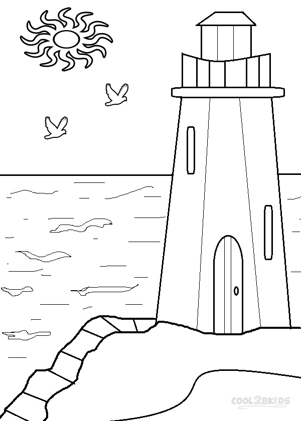 lighthouse coloring pages to print
