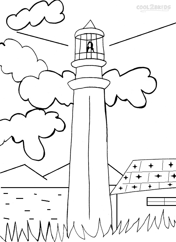 coloring pages lighthouse - photo#29