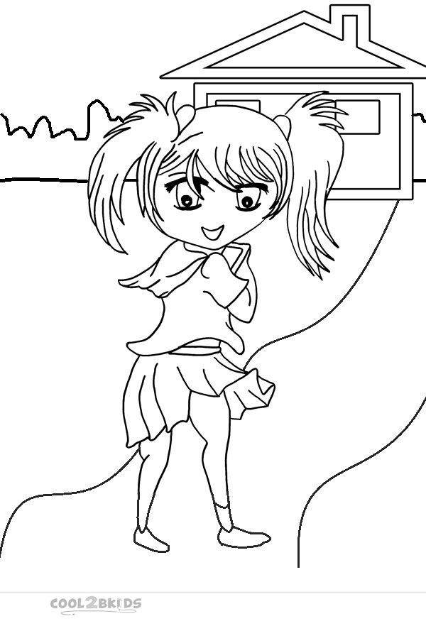 Printable Chibi Coloring Pages For Kids Cool2bkids