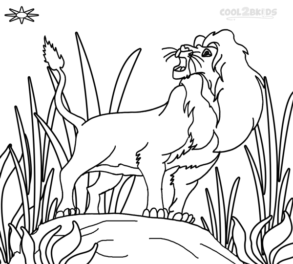 Pictures of Simba Coloring Pages