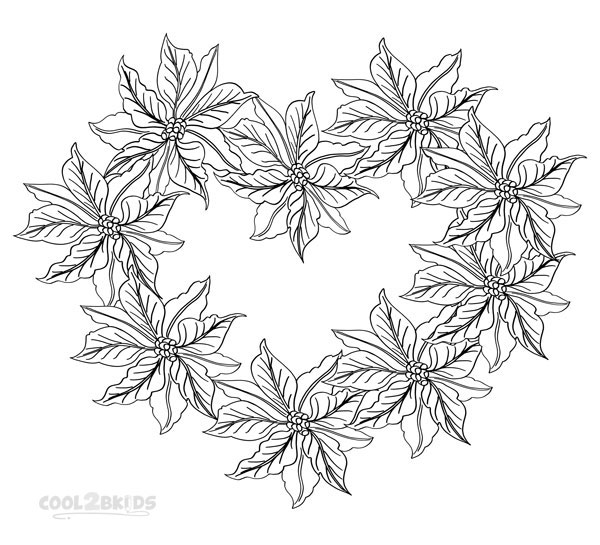 Pictures of Poinsettia Coloring Pages