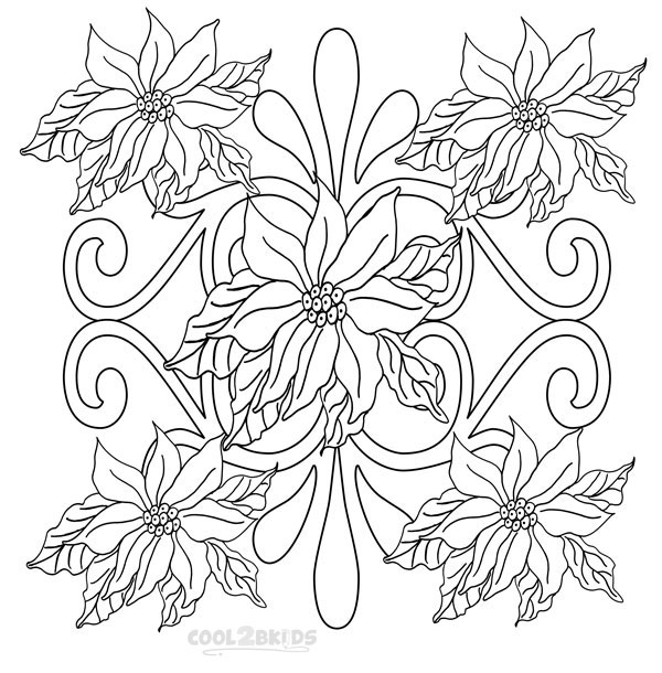 pointsettas coloring pages - photo#34