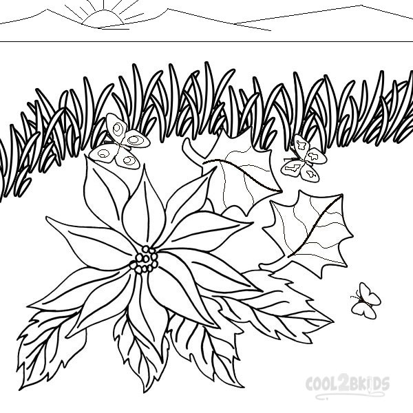 Poinsettia Coloring Pages To Print Image