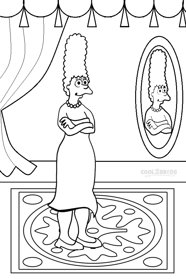the simpsons coloring book pages - photo#18