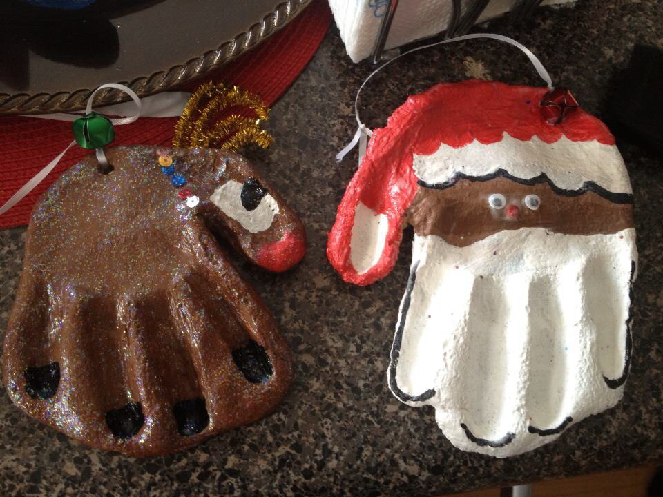 Make Salt Dough Handprints in 12 Steps | Cool2bKids  Reindeer Handprint Ornament