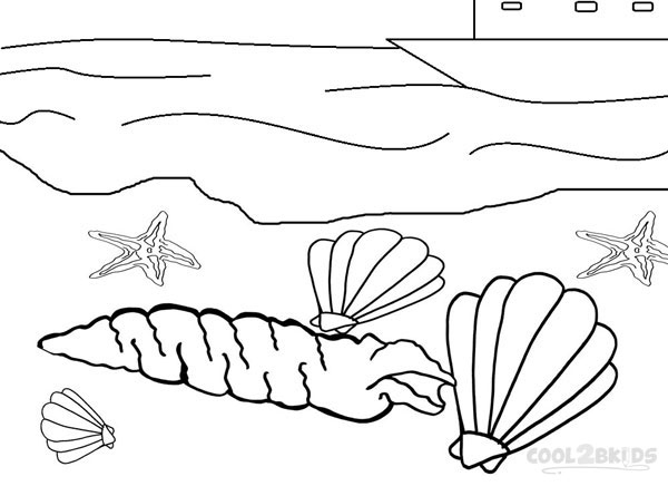 seashell coloring pages images - Seashell Coloring Pages Printable