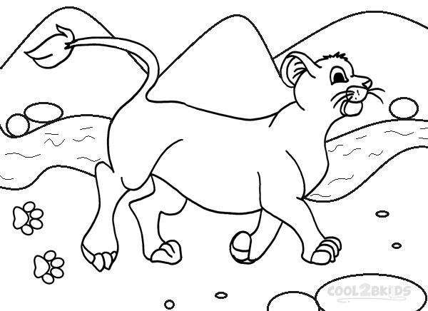 Simba Coloring Page