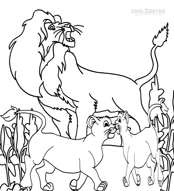 Simba Coloring Pages Free