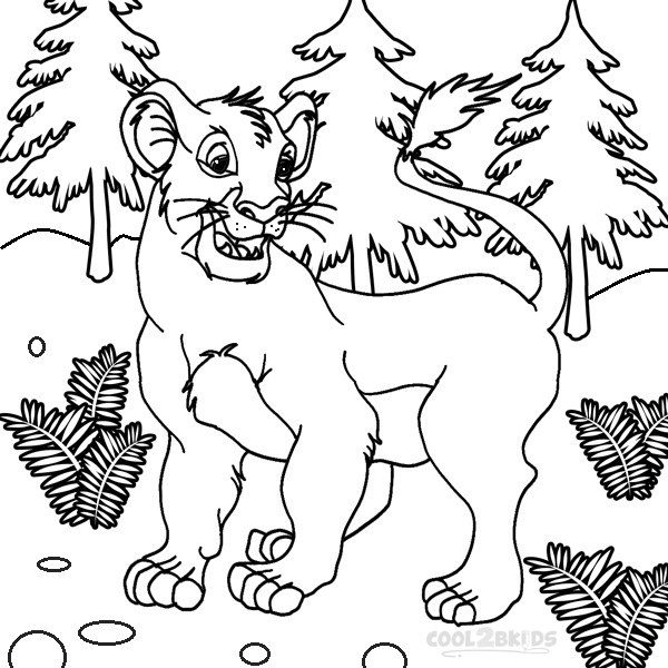 The Lion King Young Nala Coloring Page Az Coloring Pages