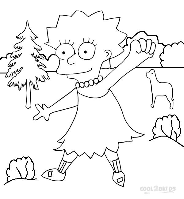 Printable The Simpsons Coloring Pages For Kids | Cool2bKids