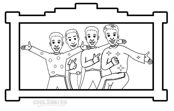 Wiggles Coloring Pages For Kids Printable Image