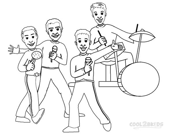 Wiggles Coloring Pages For Kids Photo