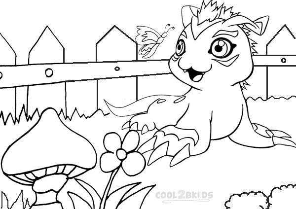 digimon coloring pages for free - Digimon Coloring Pages