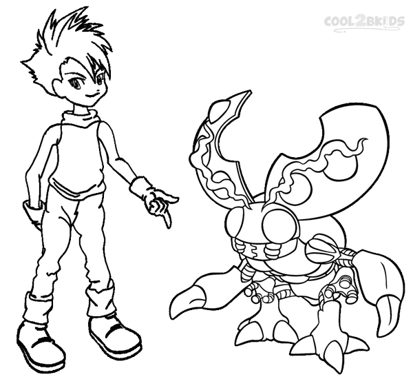 digimon coloring pages to print - Digimon Coloring Pages
