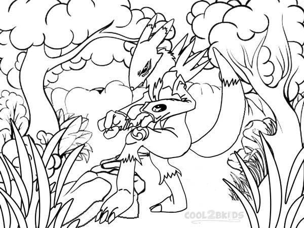Printable Digimon Coloring Pages For Kids | Cool2bKids
