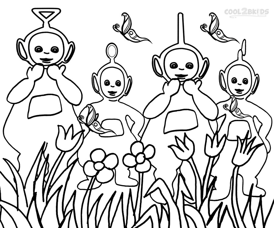 teletubby coloring pages - photo#11