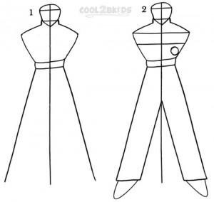 How To Draw Goku Step 1