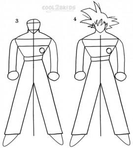How To Draw Goku Step 2