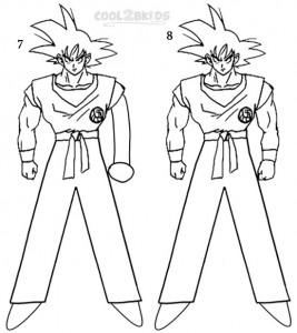 How To Draw Goku Step 4