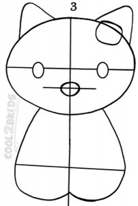 How To Draw Hello Kitty Step 3