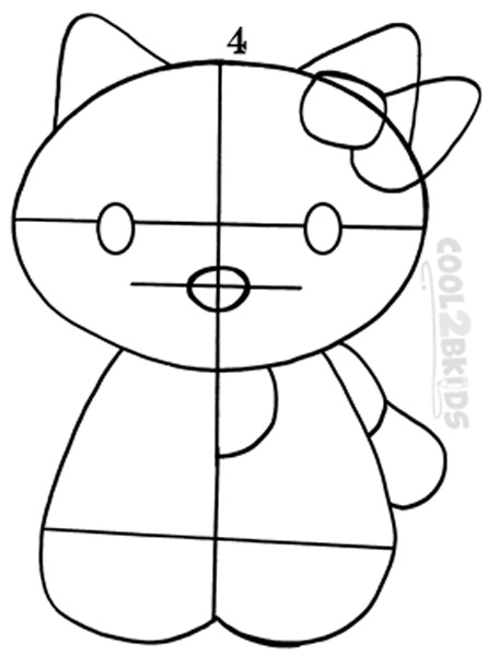 how to draw hello kitty step 4